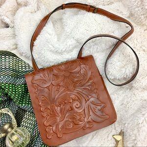 Patricia Nash Tooled Leather Crossbody Like new!!!